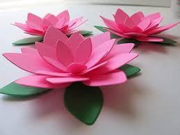 Paper Lotus Flower Amazon Com 3 Piece Set Neon Pink Water Lilies Big 4