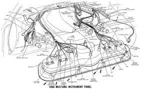 Diagram mustang headlight wiring alternator dash 1967 engine radio ford schematic 1440