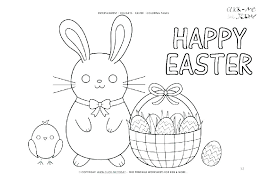 Free Printable Easter Bunny Coloring Pages Showideeinfo