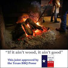 Here's the best comment we've ever seen about wood and Texas BBQ ...