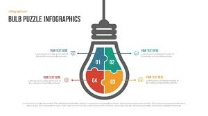 Ppt Templates Download Free Bulb Puzzle Infographics Free Powerpoint Template Slidebazaar