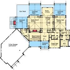 house plans with a view. Rear View Splendor - 23286JD Floor Plan Main Level House Plans With A P