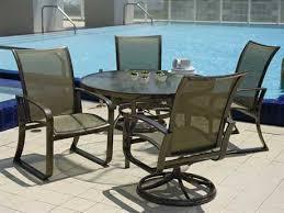 Monaco 5Piece Swivel Rocker Dining Set  MONACO5PCSWOutdoor Sling Furniture