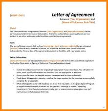 sample agreement letters examples of agreement letters sample agreement letter perfect