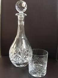 royal albert lead crystal glasses and decanter set as new