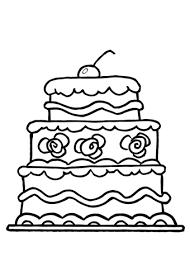 Verjaardagstaart Kleurplaat