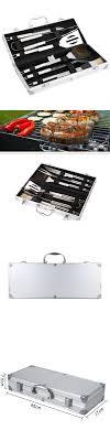 BBQ Grill Tools Set 6 Pieces Stainless Steel BBQ Utensils & Luxury  Presentation Storage Case -