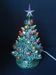 Tabletop Ceramic Christmas Tree  Christmas Lights DecorationCeramic Tabletop Christmas Tree With Lights