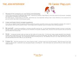 Micareermap Set Yourself Up For Success Interviews Copyright 2015 By