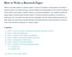 Research Paper Terms How To Write A Research Paper A Research Guide For Students