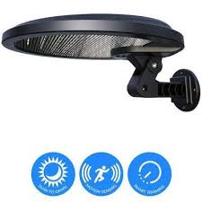 self contained 160 black motion activated outdoor integrated led solar security flood light with