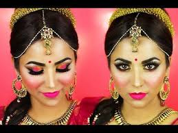 step by step south indian bridal makeup tutorial gold and pink
