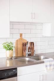 white brick tiles with gray grout design ideas rh decorpad com white subway tile backsplash with dark grey grout white arabesque tile backsplash with gray