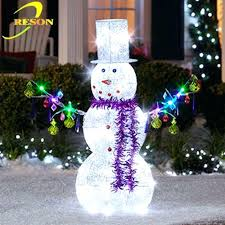 metal snowman outdoor decorations decoration lighted buy in home interior . Metal Snowman Outdoor Decorations Animated Train