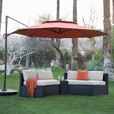 c coast 11 ft steel lighted offset olefin patio umbrella base hayneedle