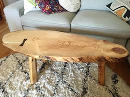 live edge coffee table wood en new hairpin legs