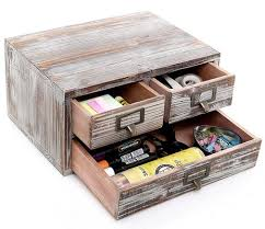 office drawer organizers. Rustic Torched Finish Wood Office Storage Cabinet / Jewelry Organizer Drawer Organizers