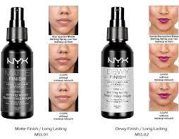 nyx makeup setting spray mss01 matte finish mss02 dewy finish long lasting