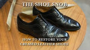 the shoe snob how to re your creased leather shoes