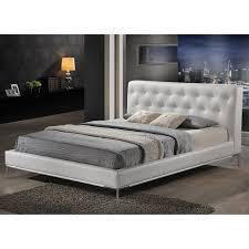 amazoncom baxton studio panchal modern platform bed king white
