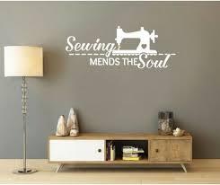 wall art vinyl decal sticker sewing