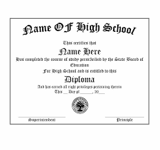 Free Homeschool Diploma Template 35 High School Diploma Template Download Now For Free