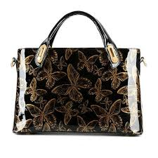 <b>YANXI</b> Factory Outlet Butterfly Patent Leather Shoulder Vintage ...