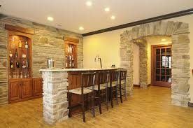 basement finishing ideas. Remarkable Stone Patterned Wall At Contemporary Wine Cellar Using Basement Remodeling Ideas On Tiled Floor Finishing P