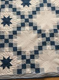 Best 25+ Irish chain quilt ideas on Pinterest | Quilt patterns ... & Blue and grey double Irish chain quilt Close up of amazing quilting by Red  Red Bobbin Adamdwight.com