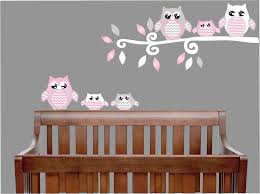 pink owl wall decals owl stickers owl nursery wall decor on removable wall decor stickers with wall stickers wall decals removable wall stickers dinosaur wall