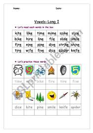 Check out our collection of long vowel worksheets that will help kids learn their long vowel sounds. Long Vowel Sound Esl Worksheet By Ggoma123