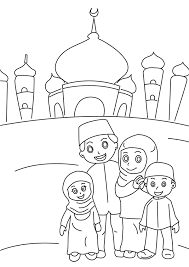 Ramadan Colouring Pages Ramadan Ramadan Muslim Eid Family