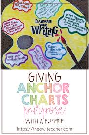 Simile Anchor Chart Giving Anchor Charts Purpose The Owl Teacher