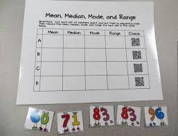 Mean Median Mode Anchor Chart Mean Median Mode Range Qr Code Activity Teach Junkie