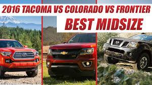 Chevy Colorado vs Toyota Tacoma vs Nissan Frontier : Best Midsize ...