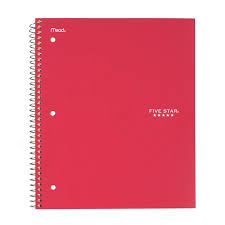 Five Star Wirebound Notebook 1 Subject Graph Ruled Assorted