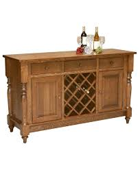 buffet with wine rack. Contemporary With Harvest Amish Buffet With Wine Rack In