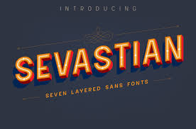 Download 10,000 fonts with one click for $19.95. Sevastian Font By Adam Fathony Creative Fabrica