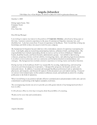 Cover Letter Template Legal Cover Letter Example Cover
