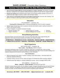 Internships Resume Examplesernship Undergraduate Business Student