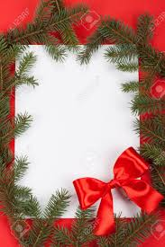 Blank Christmas Background Christmas Background Blank Old Paper Card With Decoration Stock