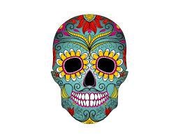 Design A Sugar Skull Online Sugar Skull Colorful Birthday Edible Cake Topper 8 Inch Round
