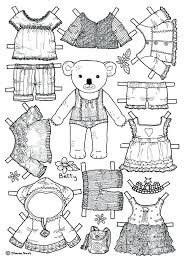Paper Doll Coloring Page Girl Bear Paper Doll Coloring Page Would Be