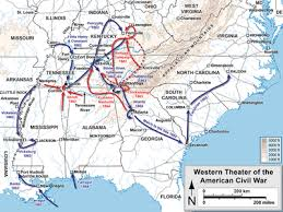 Major Battles Of The Civil War Chart Western Theater Of The American Civil War Wikipedia