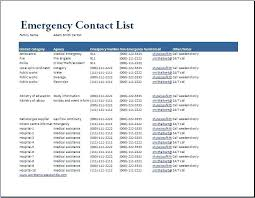 Emergency Contact List Template For Employees Useful Meanwhile At