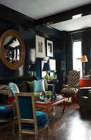 Modern interior trends 2015, blue color for living room furniture and wall  decoration
