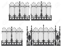 wrought iron fence victorian. Wrought Iron Gate And Modular Fences Royalty Free Cliparts, Vectors, Stock Illustration. Fence Victorian O