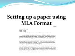 How To Cite A Quote In An Essay Unique Setting Up A Paper Using Mla Format