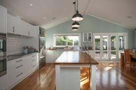Native timber floors and kitchen island | 1900\u0027s Villa Renovation ...