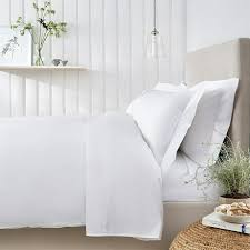 details about the white company easy iron egyptian cotton duvet cover size double white